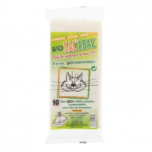 Litière & compagnie - Sacs à litière Bio SAC'ABAC pour chats