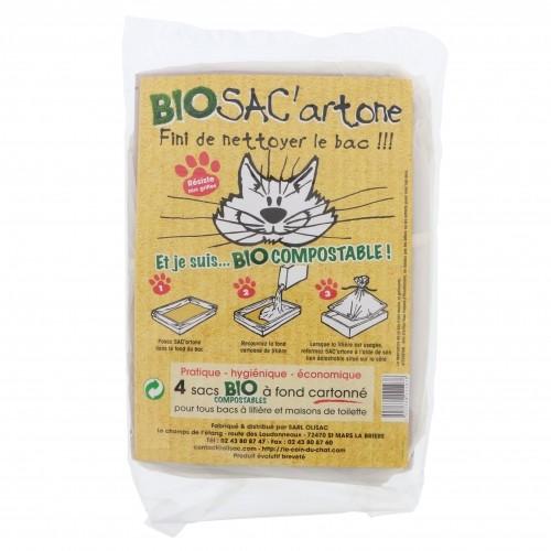 Litière & compagnie - Sac à litière Bio SAC'artone pour chats