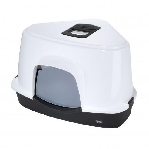 Litière & compagnie - Maison de toilette d'angle Prism pour chats