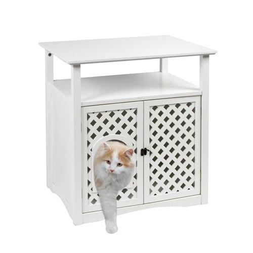 Meuble pour chat helena maison de toilette niche pour chat kerbl wanimo - Maison pour chat en bois ...