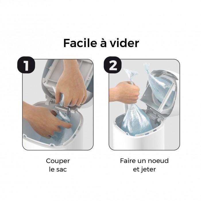 Litière & compagnie - Poubelle Litter Locker Fashion pour chats