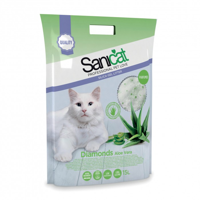Litière & compagnie - Litière parfumée Diamonds Sanicat  pour chats
