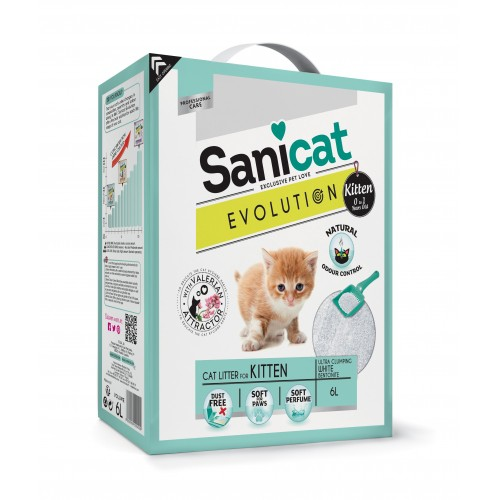 Litière & compagnie - Litière Evolution Kitten Sanicat pour chats
