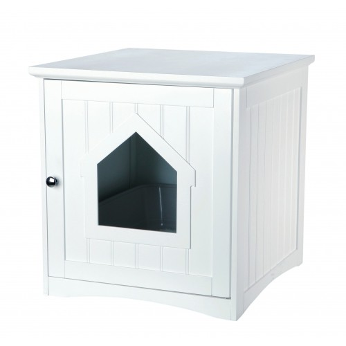 Meuble de toilette maison de toilette niche pour chat - Meuble litiere chat ...