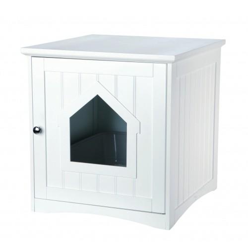 Meuble de toilette maison de toilette niche pour chat - Meuble pour les toilettes ...