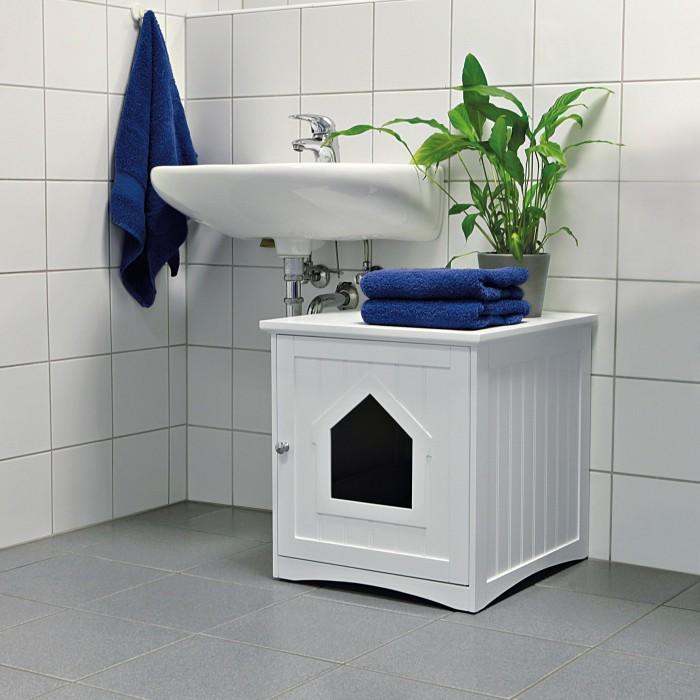 Litière & compagnie - Meuble de toilette pour chats