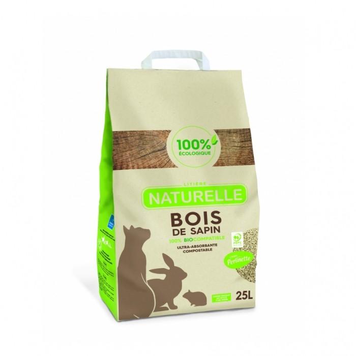 Litière & compagnie - Litière Perlinette - Bois de sapin pour chats