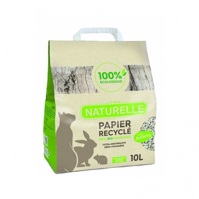 Litière & compagnie - Litière Perlinette - Papier recyclé pour chats