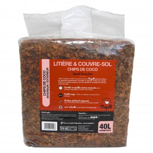 Litiere et paille pour poule - Litière et couvre-sol chips de coco pour poules