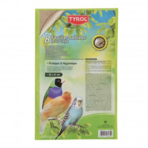 Litière pour oiseau - Feuilles sablées pour fond de cage pour oiseaux