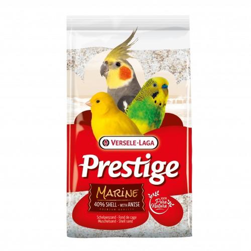 Litière pour oiseau - Fond de cage  Prestige Premium marine pour oiseaux