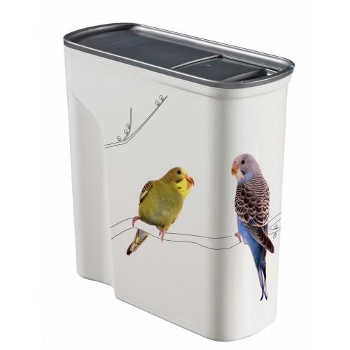 Mangeoire et abreuvoir - Petlife container de stockage pour oiseaux