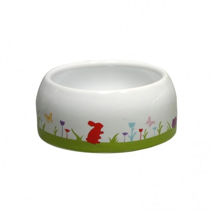 Mangeoire et biberon - Écuelle lapin en céramique pour rongeurs
