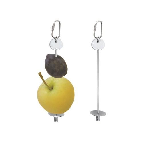 Mangeoire et abreuvoir - Brochette pour fruits ou légumes pour oiseaux