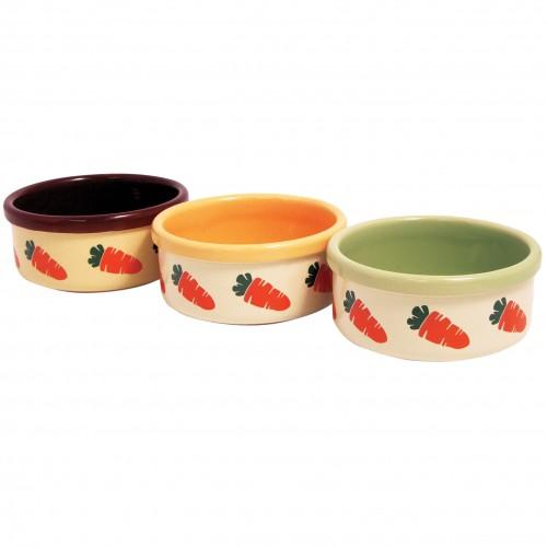 Mangeoire et biberon - Gamelle Carotte en céramique pour rongeurs