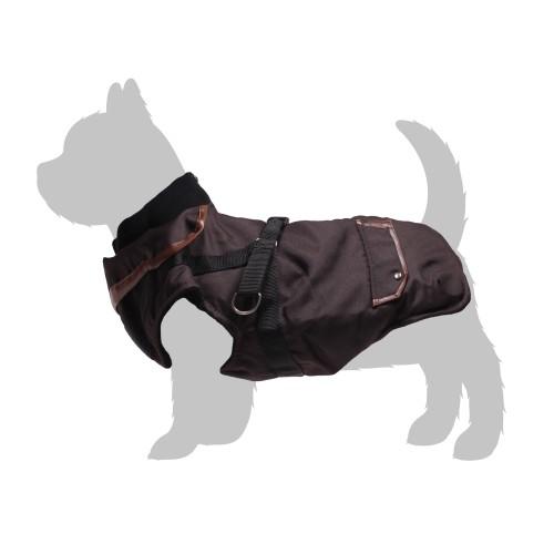 Manteau & compagnie - Manteau Trotte avec harnais intégré - Marron pour chiens