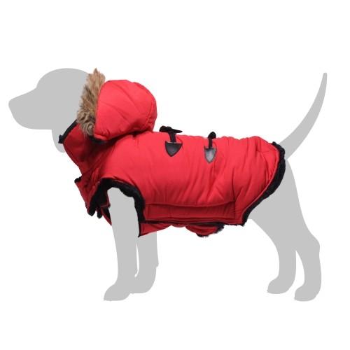 Manteau & compagnie - Manteau Capuche Mountain - Rouge pour chiens