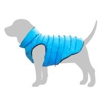 Manteau pour chien - Doudoune AiryVest - Bleu / Vert Collar