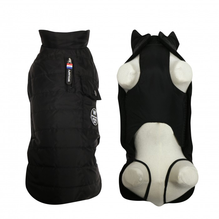 Manteau & compagnie - Doudoune Basic Noire pour chien pour chiens