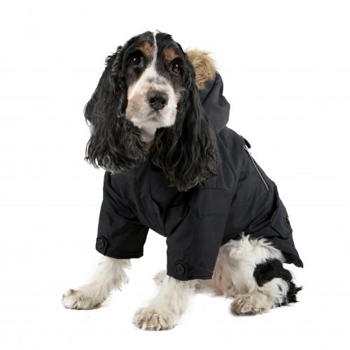 Fins de series pour chien - Manteau pour chien Birmingham noir pour chiens