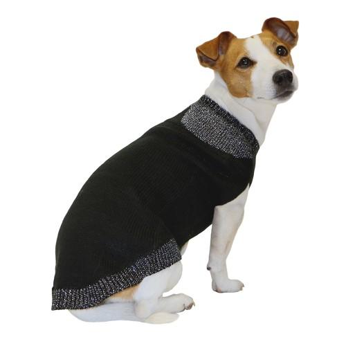 Fins de series pour chien - Pull pour chien Claudine Noir pour chiens