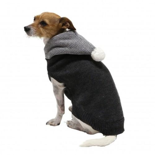 Manteau & compagnie - Pull Capuche Chiné - Gris pour chiens