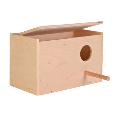 Nichoir et lit douillet - Nichoir bois perruches pour oiseaux