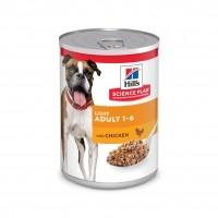 Pâtée en boîte pour chien - HILL'S Science plan Adult Light - Lot 12 x 370 g