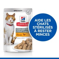Sachet fraîcheur pour chat - HILL'S Science Plan Sterilised Young Adult - Lot 12 x 85 g