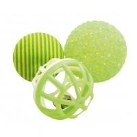 Balle pour chat - Lot de 3 balles multi-textures Zolux