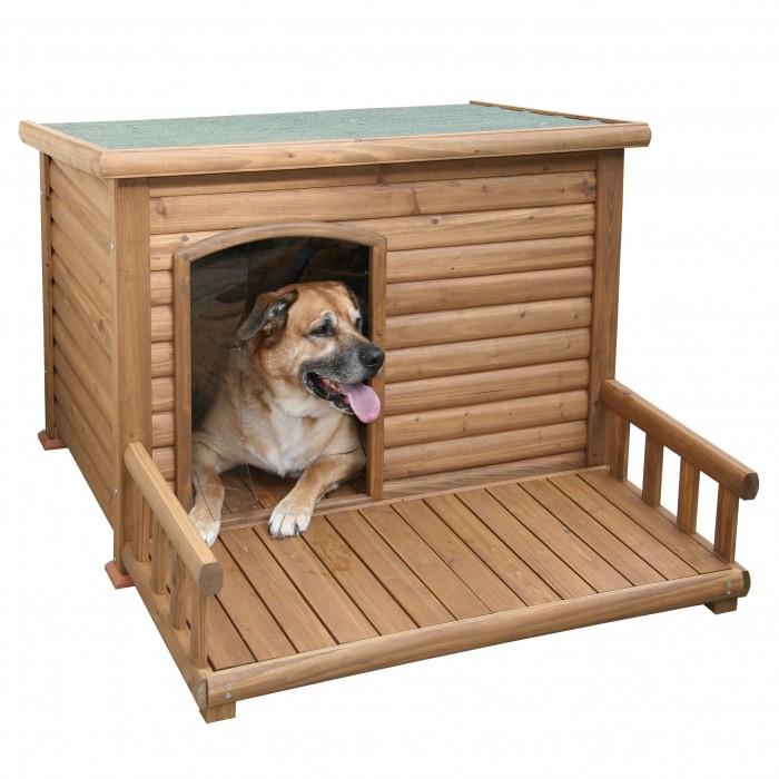 Panier et coussin pour chien - Niche avec terrasse Farniente pour chiens