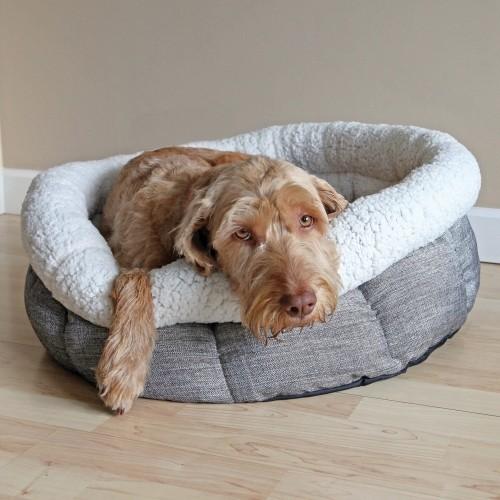 Panier et coussin pour chien - Corbeille ronde Teddy Bear pour chiens