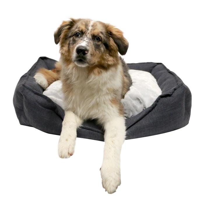 Panier et coussin pour chien - Corbeille Cosy Life Dark Grey pour chiens