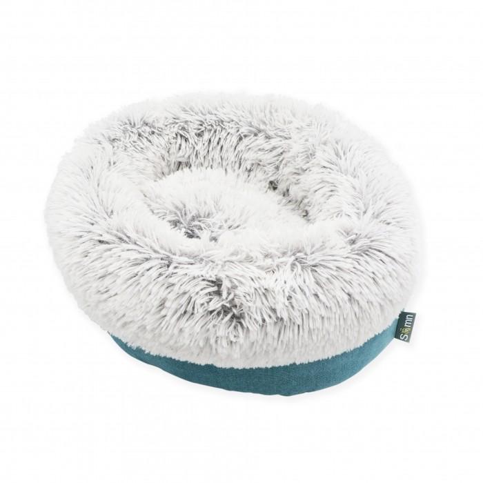 Couchage pour chat - Corbeille ronde en fourrure Inuit pour chats