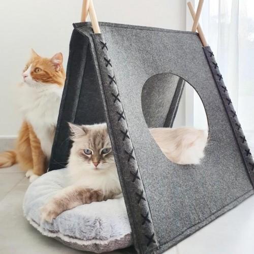 Couchage pour chat - Tente feutrine Nuuk pour chats