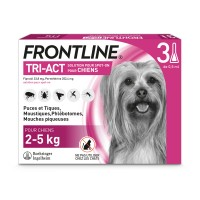 Pipettes antiparasitaire pour chien - Frontline Tri-act Merial