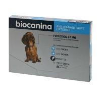 Anti-puces et tiques pour chien  - Pipettes Fiprodog Spot-On   BIOCANINA