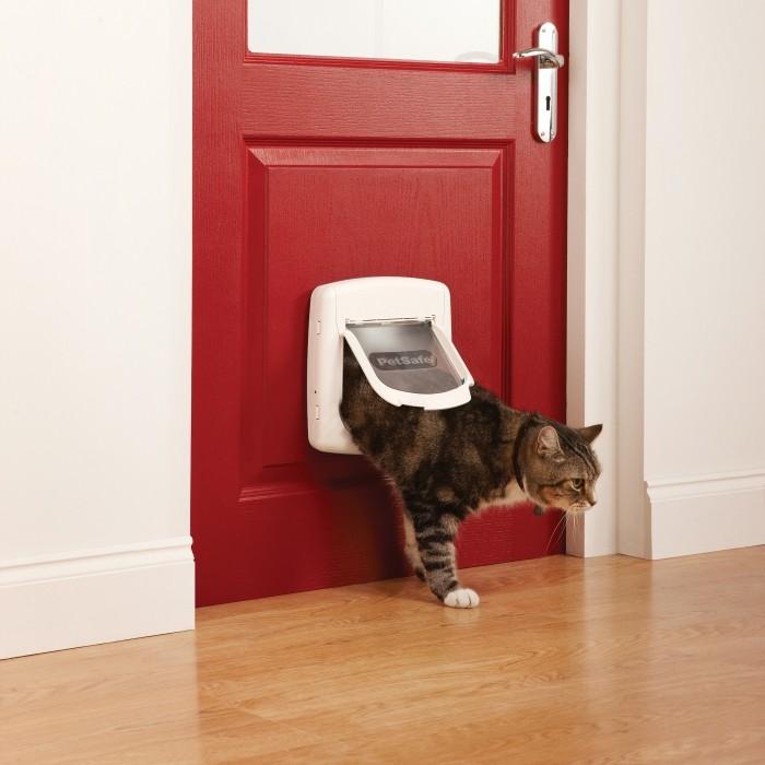 Chatière, sécurité, anti-fugue - Chatière magnétique Staywell® Deluxe pour chats