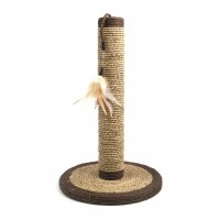 Griffoir pour chat - Poteau à griffer Natural Seagrass Rosewood