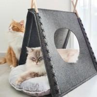 Tipi / maison pour chat et petit chien - Tente feutrine Nuuk
