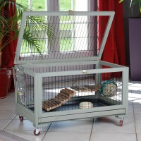Cage pour lapin, cobaye et furet - Cage Inland Rongis