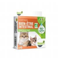 Complément alimentaire pour chat - Comprimés Bio Bien-être intestinal Naturly's
