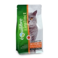 Croquettes pour chat - EQUILIBRE & INSTINCT Adulte Volaille Adulte Volaille