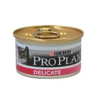 Pâtée en boîte pour chat - PROPLAN Delicate Sensitive - Lot 24 x 85g
