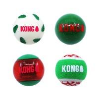 Balles pour chien - Lot de 4 balles de Noël KONG KONG
