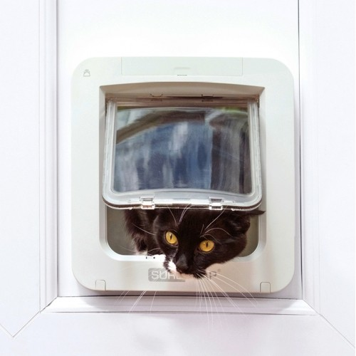 Chatière, sécurité, anti-fugue - Grande chatière électronique Connect pour chats