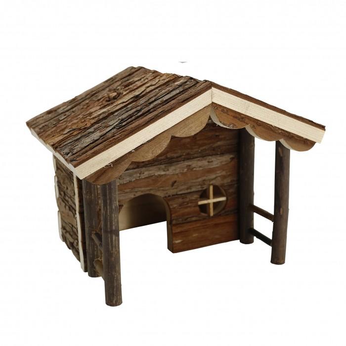 Couchage et habitat rongeur - Maison avec auvent pour rongeurs