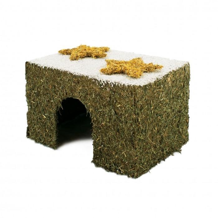Couchage et habitat rongeur - Maison de foin avec toit enneigé pour rongeurs