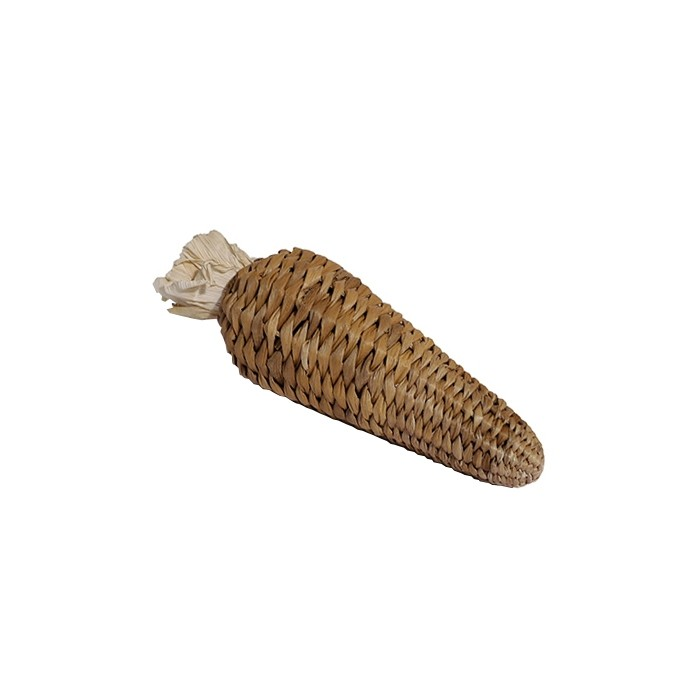 Jouet pour rongeur - Carotte en feuilles de bananier pour rongeurs