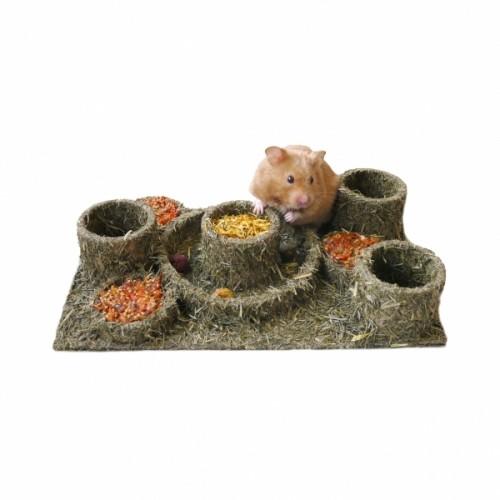 Friandise et complément  - Mangeoire en herbes pour rongeurs